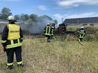 Brennen mehrere Kabeltrommeln in Landscheide
